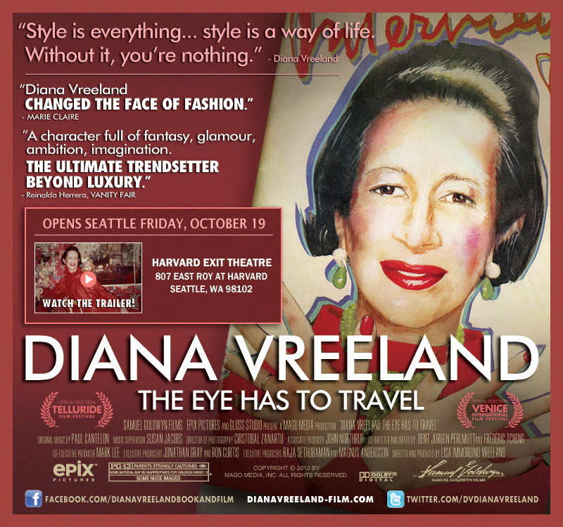 Diana Vreeland Film Comes to Seattle!