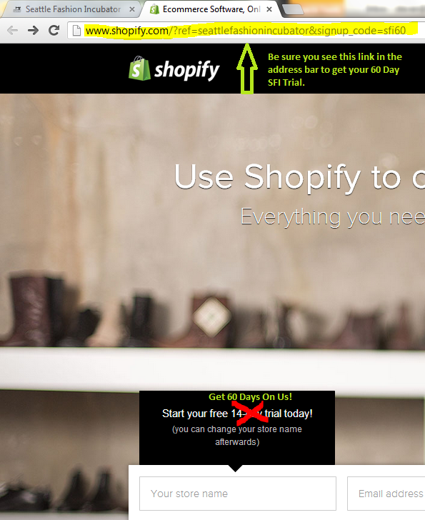 Shopify 60 Day Trial