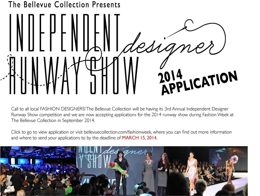 2014 Bellevue Independent Designer Runway Application Deadline