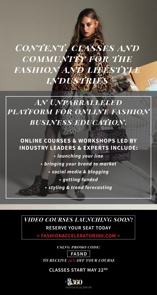 FA360 Seattle Fashion Incubator Discount Code